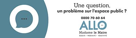 Contactez madame la Maire par téléphone 08 00 70 60 64