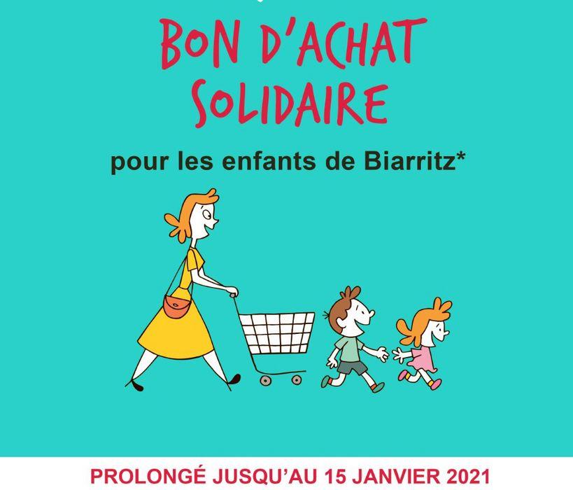 Bon d'achat solidaire pour les enfants de Biarritz