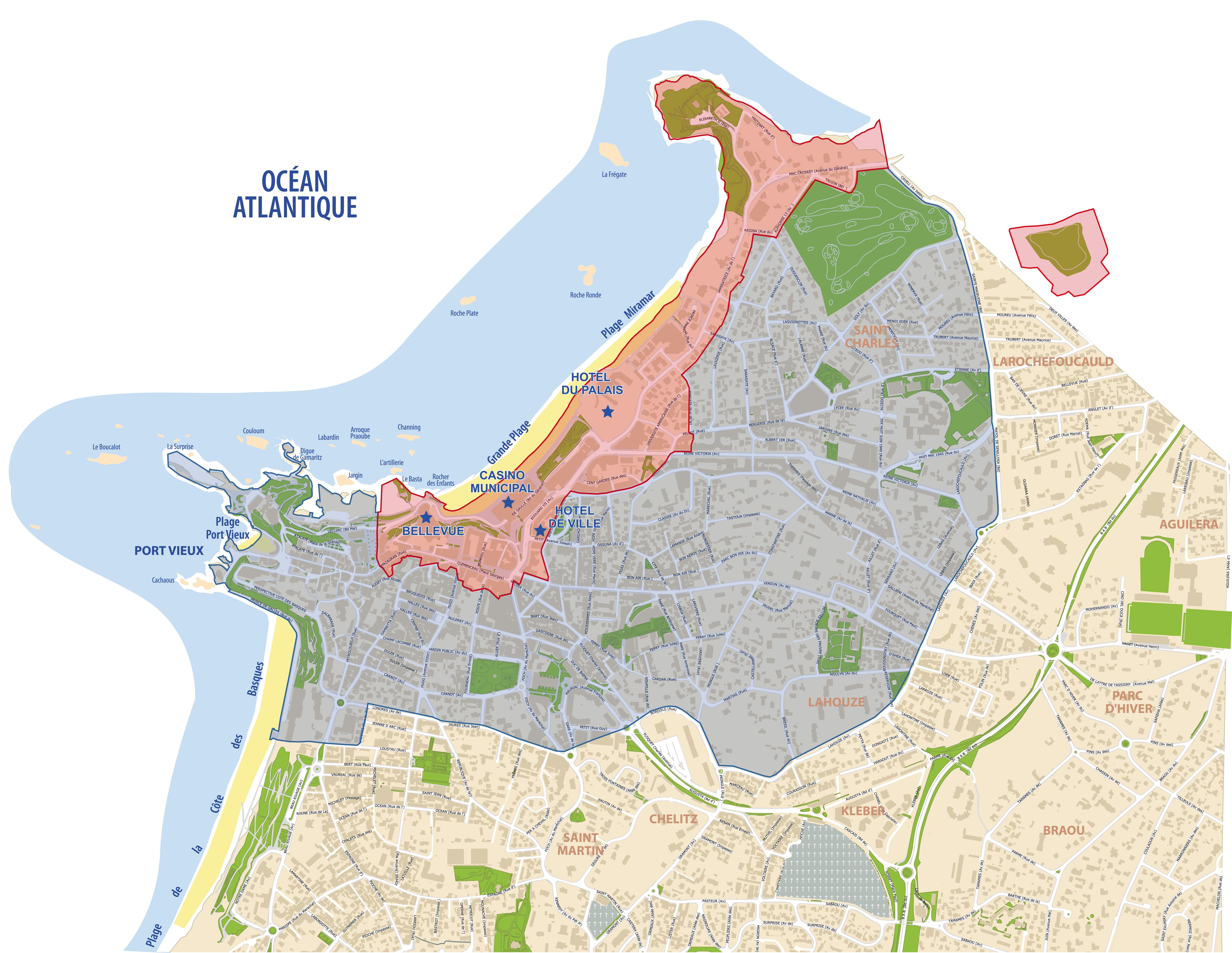 Carte des zones de protection